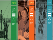Progress Report covers for Sustainable DC, Clean Energy DC, and Climate Ready DC